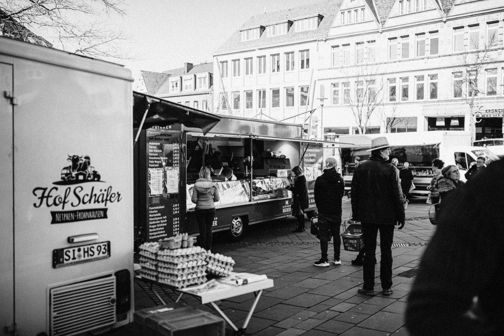 Markplatz siegen Corona Streetphotography Fotograf